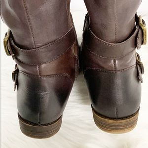 Lucky Brand Shoes - Lucky Brand | Brown Leather Buckle Riding Boots